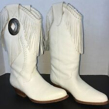 Vintage Circle S Cowboy Boot Size 6M White Brand New!