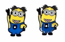 Despicable Me Minion Character Metal Enamel Stud Earrings