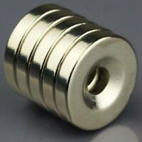 5/10pcs N50 Strong Round Neodymium Magnets Countersunk Ring 5mm Hole 20x4mm