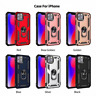 Coque Military Armor Silicone Case Anneau Aimant Support iPhone 11 XR XS Max Pro