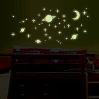 Luminous Wall Sticker Glow In The Dark Moon Star Mural Decal Home Kid Room Decor