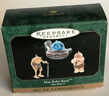 1999 Hallmark Star Wars Max Rebo Band Christmas 3 Miniature Ornament Set New