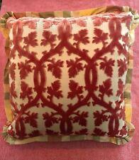 2 SCALAMANDRE Pillow Covers Custom Silk Plaid & Falk Manor Pattern BRAND NEW