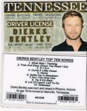 Dierks Dirks Bentley Bently Tennessee TN Drivers License fake id i.d. card