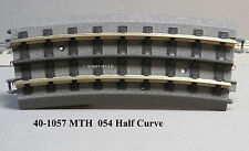 MTH REALTRAX 054 HALF CURVE TRACK SECTION 3 rail O GAUGE train roadbed 40-1057