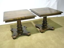 "*PAIR* Ethan Allen Solid Maple ""Classic Manor"" Cocktail Tables, Near Mint"
