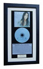 CHER Believe CLASSIC CD Album GALLERY QUALITY FRAMED+EXPRESS GLOBAL SHIP+Strong