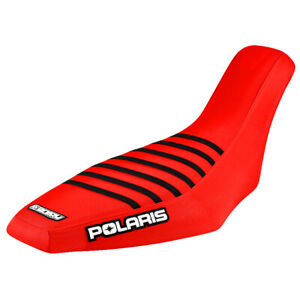 Polaris Predator 500 seat cover 2003 2004 2005 2006 2007 Red - Black  Ribs #225A