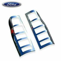 FORD TRANSIT MK6 MK7 2000-2013 CHROME REAR LIGHT GRILL COVERS TRIM PAIR S. STEEL