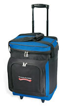 """GP 17"""" Navy Everest Plus Insulated 30-can Rolling Wheeled BBQ Picnic Cooler Bag"""