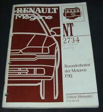 Werkstatthandbuch Renault Megane Typ BA Besonderheiten Motor F9Q Stand 1997