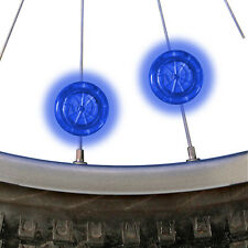 2 BLUE NITE IZE SEE EM LED SPOKE WHEEL LIGHTS BIKING BIKE BICYCLE NIGHT RIDES