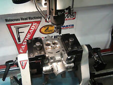 RMZ450 Head service seats cut Kibblewhite steel valves & spring kit installed