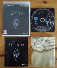 skyrim PS3 / cd sans rayure / complet avec carte / envoi gratuit,protégé,suivi