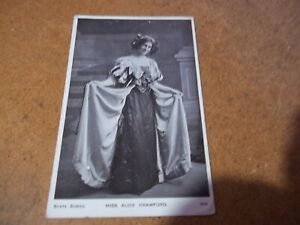Miss Alice Crawford Edwardian Actress  vintage Postcard black/  white written on