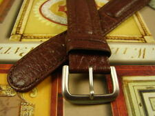 22mm NOS Casio Padded Stitched MENS BROWN WATCH BAND Signed Silver Tone Buckle!