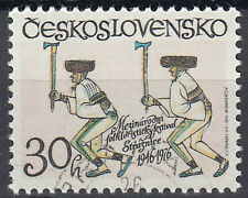 Tschechoslowakei gestempelt Axt Beil Werkzeug Holzfäller Tracht Tradition / 540