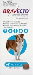 Bravecto Flea, Tick & Mite Treatment for Large Dogs (Blue) Chews