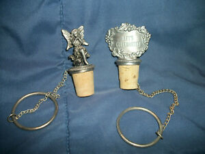 Lot of  Pewter & Cork Wine/Bottle Stoppers New