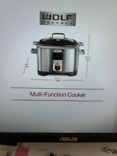 NWT Wolf Gourmet 7 Qt. Multi-Cooker  WGSC 120S w/stainless steel knob