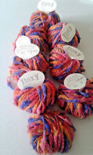 7 Skeins & 2 PART Roxy Yarn Color 902 Purple Pink Yellow 1.75 Ounce Made Italy