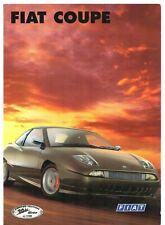 Fiat Coupe 20v Turbo Limited Edition 1998 UK Market Sales Brochure