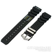 Подлинный гражданин 20 мм ремешок для часов Eco-Drive aqualand Promaster черный резиновый ремень