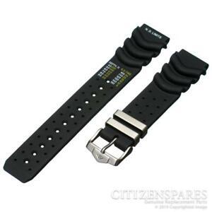 Genuine Citizen 20mm Watch Band Eco-Drive Aqualand Promaster Black Rubber Strap