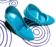 Vintage 1960's Mod Barbie Doll Turquoise Spike Closed Toe Heels ~ Japan ~HTF