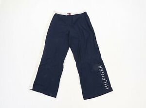Vintage 90s Tommy Hilfiger Mens Large Spell Out Color Block Sweatpants Navy Blue