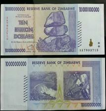 Zimbabwe ten billion dollars banknotes used