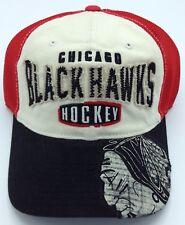 NHL Chicago Blackhawks CCM Vintage Adult Half Mesh Adjustable Fit Cap NEW!