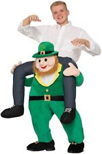 Adults Piggyback Step In Leprechaun Irish Stag Do Fancy Dress Costume Outfit