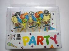 PIRATES & PARROTS  Party Candles CAKE DECORATION SET Birthday Cake Topper Figure