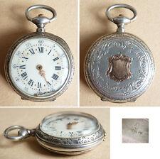Petite montre à gousset de col en argent silver watch Kerscaven à Brest