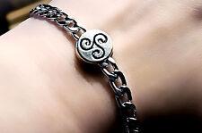 Bdsm Symbol triskele Metal Chain Bracelet Submissive Dominant gift fetish kinky