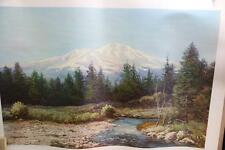 "By Robert Wood Large Vintage Lithograph Print ""Mount Shasta"" Robert Wood 40""x29"""