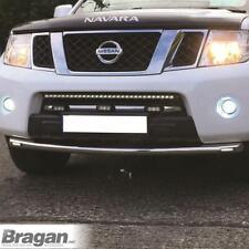 To Fit 2005 - 2010 Nissan Navara D40 Stainless Steel Bumper Spoiler Bar + LEDs