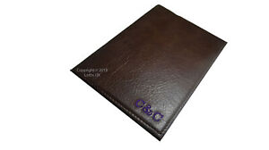 Diary Notebook Journal A5 Personalised Leather refillable custom handmade