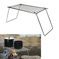 Camping Grill Metal Heavy-Duty Campfire Pack Grill Portable Fire Cooking Steel