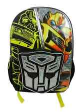 Transformers Prime Bumblebee Yellow Backpack Kids Travel Back Pack
