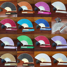 15Color Fashion Chinese Style Hand Held Fan Bamboo Silk Folding Fan Party Decor