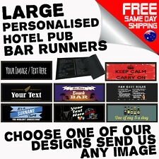 LARGE PERSONALISED BAR RUNNER Beer Mat Drip Pub Club Hotel Birthday Gift