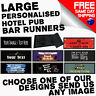 LARGE PERSONALISED BAR RUNNER beer mat drip mat pub club hotel birthday gift