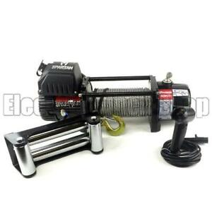 Warrior Spartan 8000lb 12v Electric Winch, Steel Rope, Heavy Duty, 4x4, Recovery