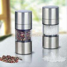 New Stainless Steel Pepper or Salt Grinder Hand Muller Spice Herb Mill Kitchen