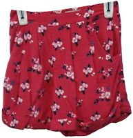 Abercrombie Kids Youth Girls Pink Floral Print Elastic Waist Shorts Size Small