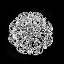 24PCS Fashion Womens Ladies Rhinestone Silver Tone Brooch Wedding Bridal Pin