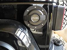 Tankdeckel Blende Tankklappe Alu schwarz Jeep Wrangler JK 07- DRAKE JP-19004-Bla