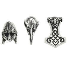 Alchemy Gothic Norsebraid Medieval Hair Beard Beads Raven Skull Mjollnir ABR5